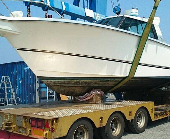 ボート買取サービスから船舶の引き揚げに参ります